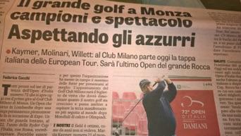 Golf – Open Italia 2015, Gazzetta dello Sport – Giugno 2015