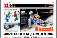 Gazzetta Dicembre 2018 –  FIS Alpine Ski World Cup