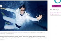 Underwater shooting with Alessandro Trovati ( Pentaphoto Agency )