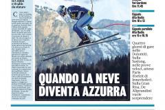 Gazzetta Dicembre 2019 –  FIS Alpine Ski World Cup